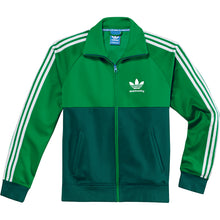 Load image into Gallery viewer, Adidas Skate Track Top fairway/dark green
