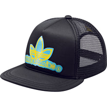 Load image into Gallery viewer, Adidas Skate Trucker black/sun mesh cap