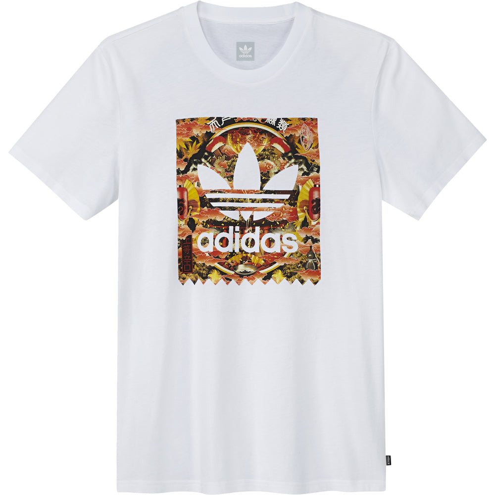 adidas x Evisen BB Fill T shirt white/pale melange/night indigo