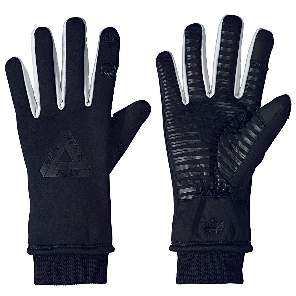 Adidas x Palace black gloves Medium