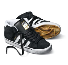 Load image into Gallery viewer, Adidas Campus Vulc Mid black/running white/metallic gold