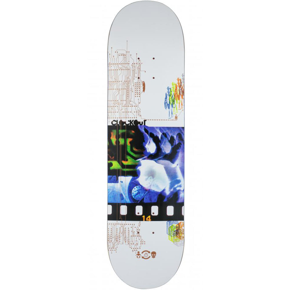 Alien Workshop Clockout white deck 8.5