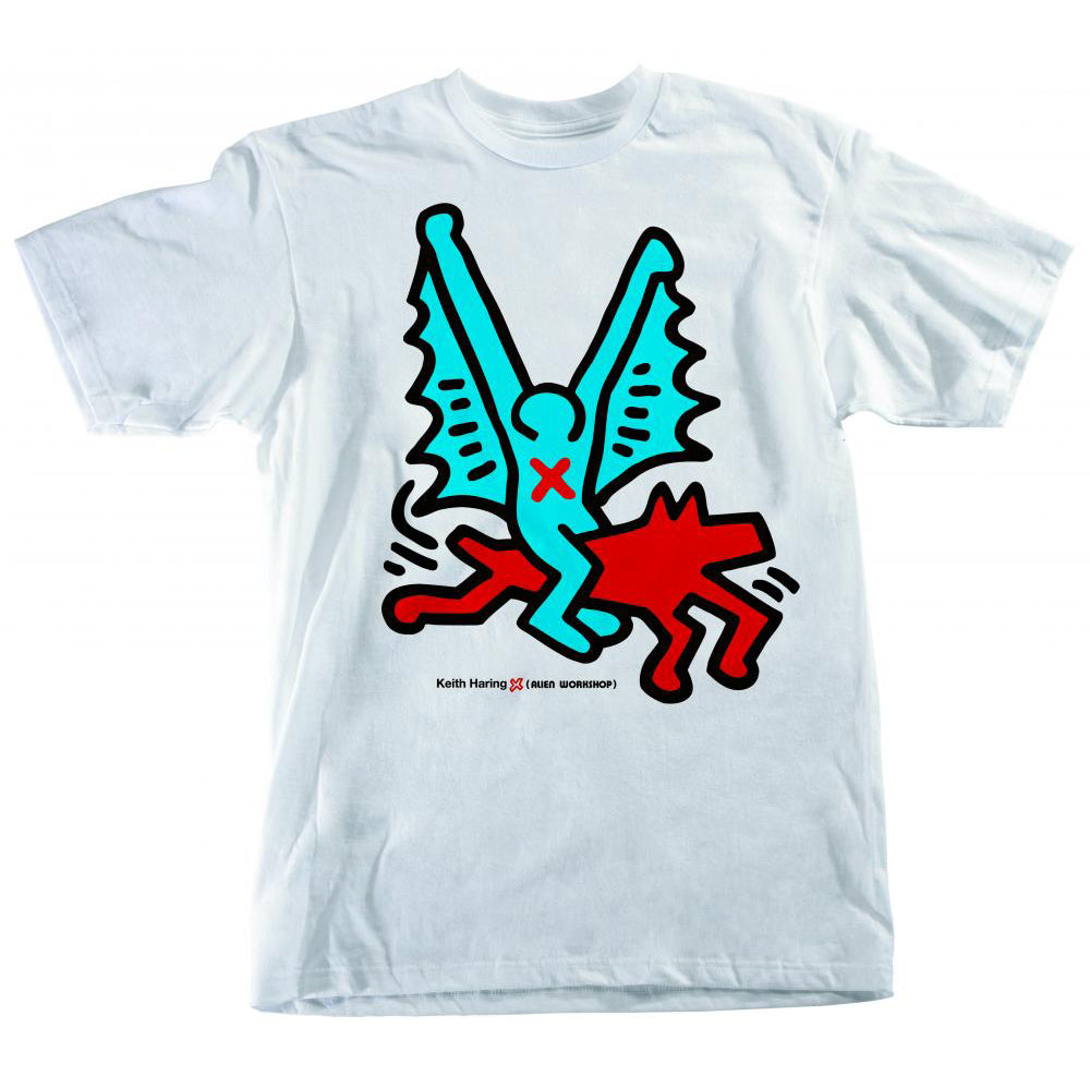 Alien Workshop Keith Haring  Batdog White T Shirt