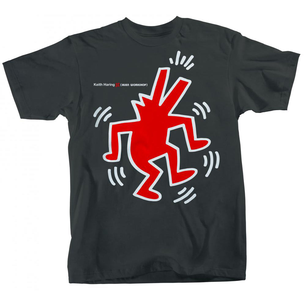 Alien Workshop Keith Haring Dancing Dog Charcoal T Shirt