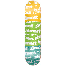 Load image into Gallery viewer, Almost Plastered yellow/green/teal deck