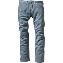 "Load image into Gallery viewer, Altamont Herman Wilshire Low dusty blue denim 32"" leg"