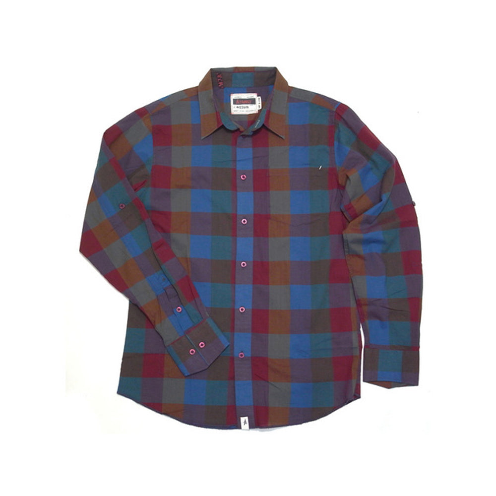 Altamont Mangler plaid navy shirt