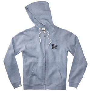 Altamont No Logo blue heather zip hood