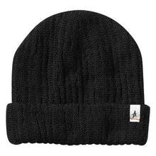 Load image into Gallery viewer, Altamont Rolled black beanie
