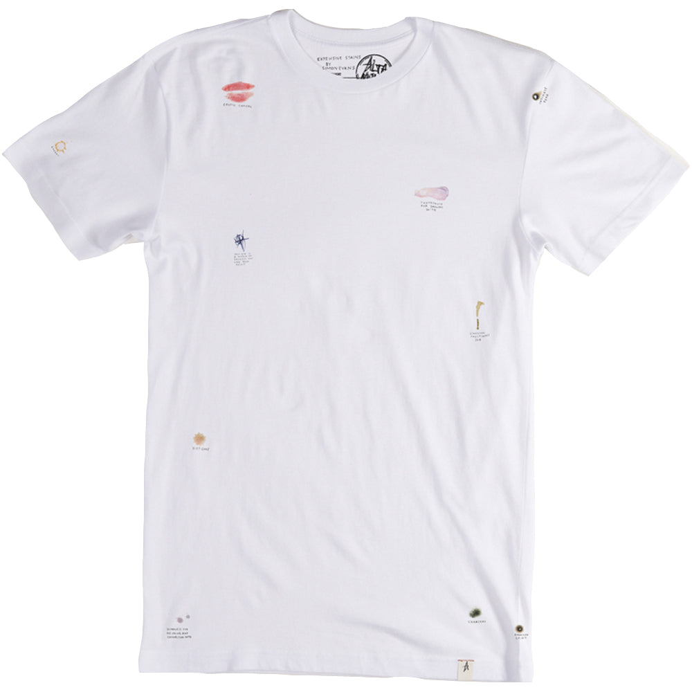 Altamont S Evans Expensive Stains White T shirt