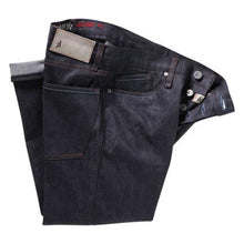 "Load image into Gallery viewer, Altamont Reynolds Wilshire indigo wax denim 32"" leg"