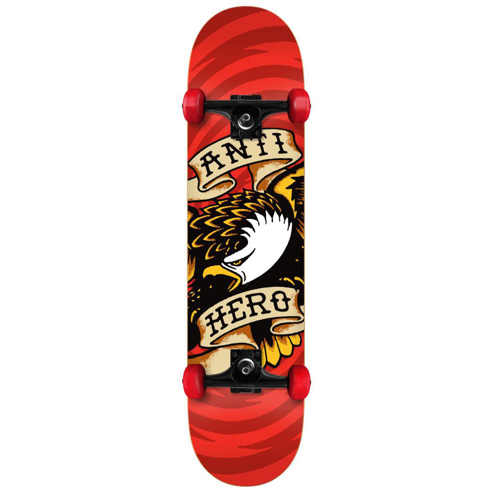 Antihero Eagle Hypno red small complete skateboard