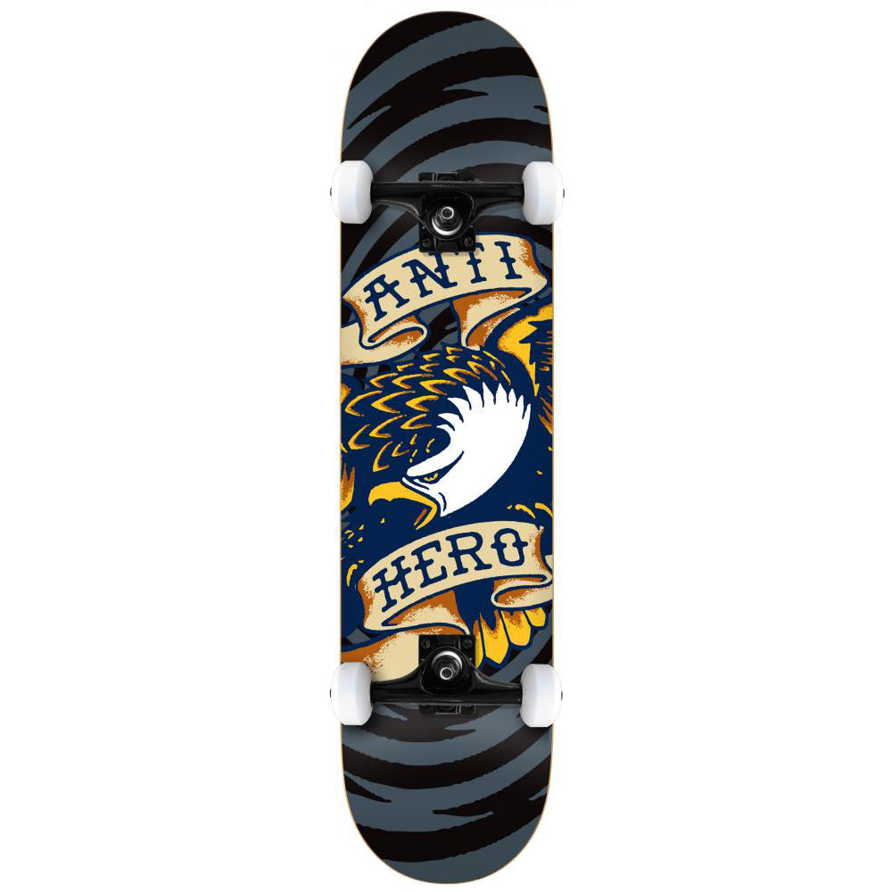 Antihero Eagle Hypno black large complete skateboard