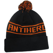 Load image into Gallery viewer, Antihero Pom Cuff Black Beanie