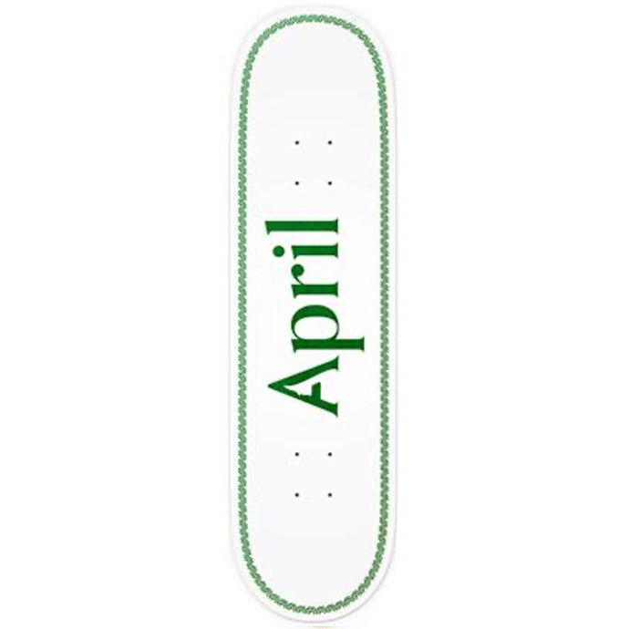 April OG Logo Helix deck green 8.38