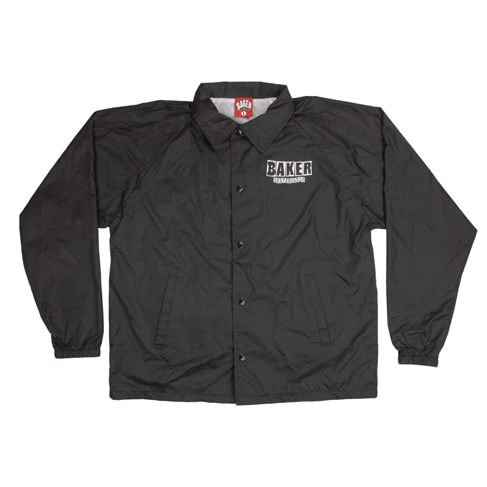 Baker Brand Logo black windbreaker