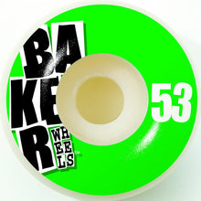 Load image into Gallery viewer, Baker Stacked Green 53mm wheels