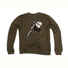 Load image into Gallery viewer, Benny Gold Tomahawk Army Green Crew