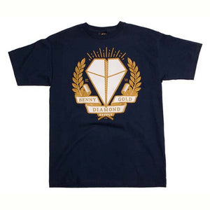 Benny Gold X Diamond Supply co. Navy T Shirt