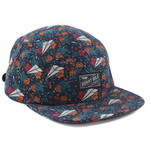 Load image into Gallery viewer, Benny Gold Dolores all over navy 5 panel cap