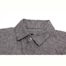 Load image into Gallery viewer, Benny Gold Houndstooth button up black Flannel Shirt