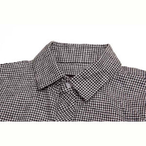 Benny Gold Houndstooth button up black Flannel Shirt