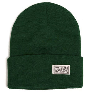 Benny Gold Marine Folded Knit hunter green beanie