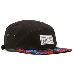 Benny Gold Native black 5 panel camper cap