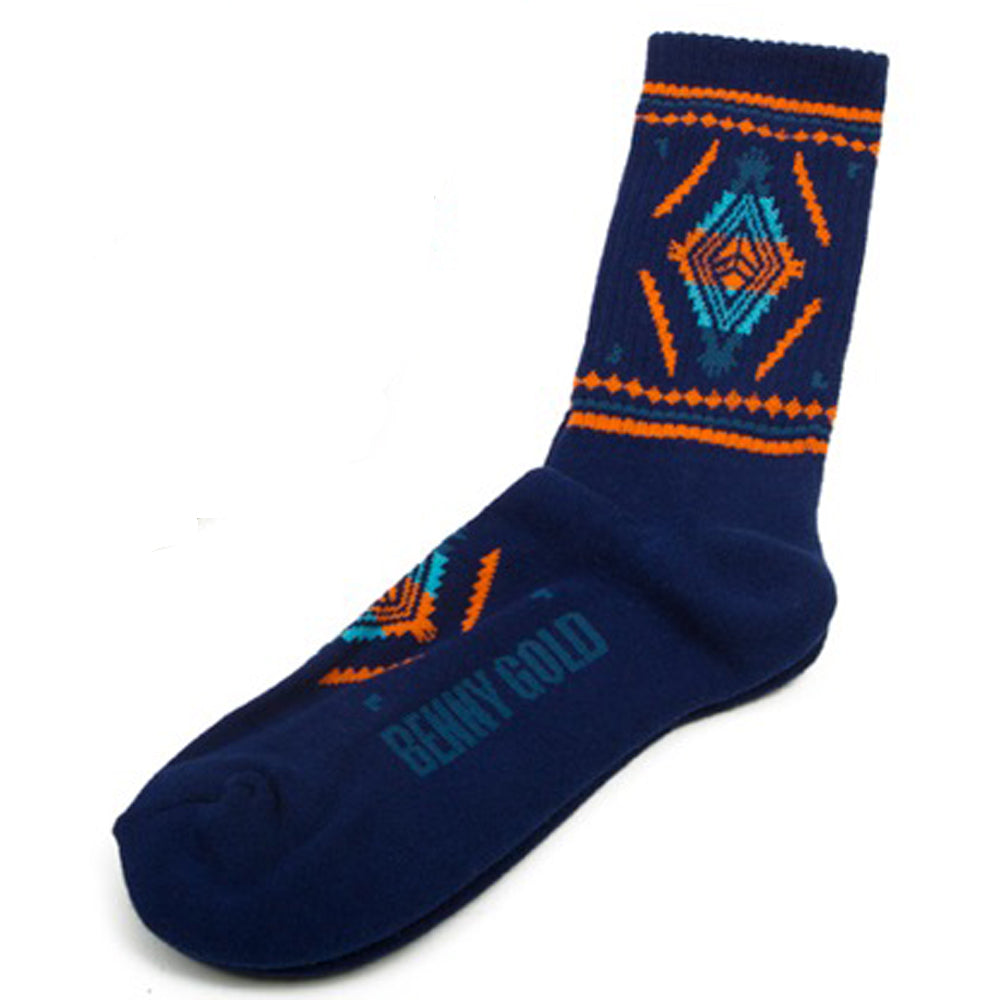 Benny Gold Native navy socks