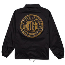 Load image into Gallery viewer, Benny Gold Rowing Club black coach jacket