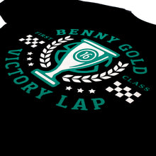 Load image into Gallery viewer, Benny Gold Victory black T shirt