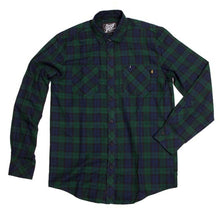 Load image into Gallery viewer, Benny Gold Twill Plaid Button Up Shirt green/navy