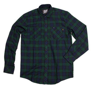 Benny Gold Twill Plaid Button Up Shirt green/navy
