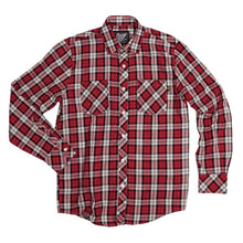 Load image into Gallery viewer, Benny Gold Twill Plaid Button Up Shirt red/navy