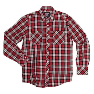 Benny Gold Twill Plaid Button Up Shirt red/navy