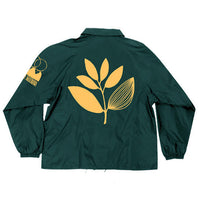 Load image into Gallery viewer, Magenta Big Plant Windbreaker green jacket