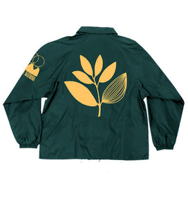 Magenta Big Plant Windbreaker green jacket