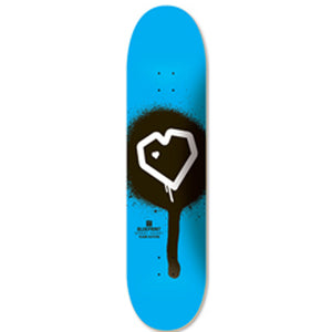 Blueprint Spray Heart Cyan deck