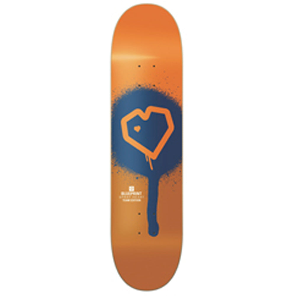 Blueprint Spray Heart Muddy Orange deck