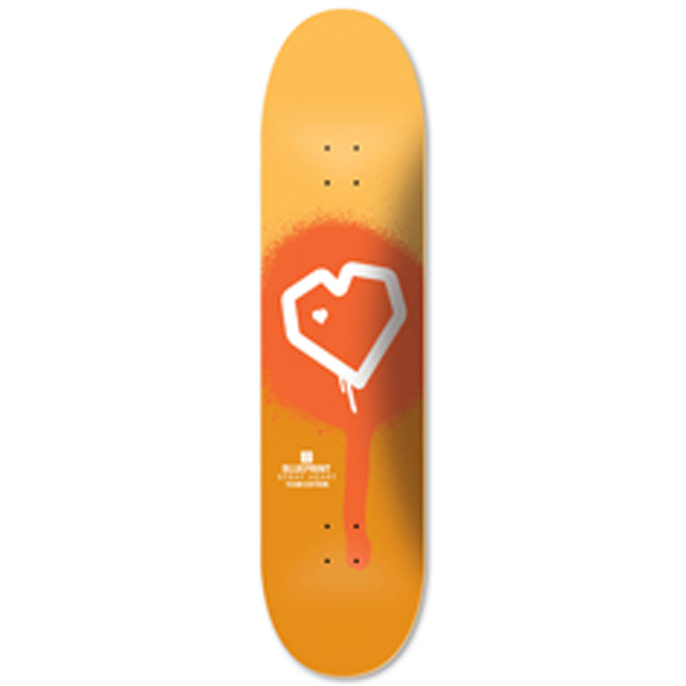 Blueprint Spray Heart Orange deck