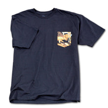 Load image into Gallery viewer, Bohnam Forage black pocket T shirt