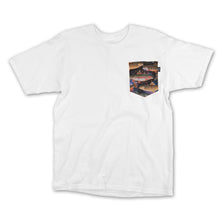 Load image into Gallery viewer, Bohnam Space Trout white pocket T shirt