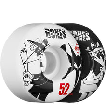 Load image into Gallery viewer, Bones STF Rat vs Rat black/white 52mm wheels