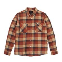 Load image into Gallery viewer, Brixton Bowery cream/rust longsleeve button up flannel shirt