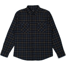 Load image into Gallery viewer, Brixton Bowery Flannel Shirt washed black/blue
