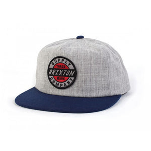 Brixton Council heather grey/navy Hat