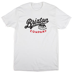 Brixton Denton white T shirt