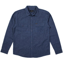 Load image into Gallery viewer, Brixton Donez washed blue longsleeve button up flannel shirt