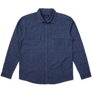 Brixton Donez washed blue longsleeve button up flannel shirt