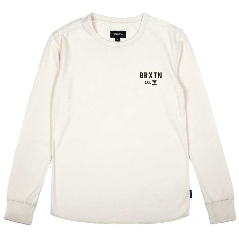 Brixton Eaton Thermal cream T shirt